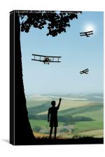 Childhood Dreams - The Flypast, Canvas Print