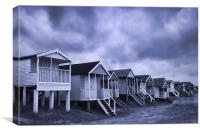 Beach Huts, Old Hunstanton, Norfolk, UK, Canvas Print