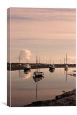 Reflections at Brancaster Staithe, Norfolk,UK, Canvas Print