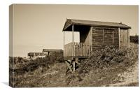 Beach Hut, Old Hunstanton, Norfolk, UK, Canvas Print
