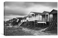 Beach Huts, North Norfolk, UK, Canvas Print