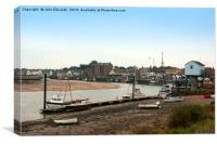Harbour, Wells-next-the-sea, North Norfolk, Canvas Print
