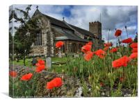 The Church of St Mary the Virgin, South Wootton, Canvas Print