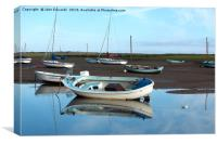 Brancaster Reflections , Canvas Print