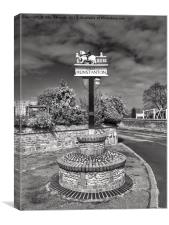 Village sign, Old Hunstanton , Canvas Print