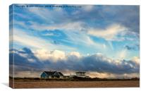 Houses, Snettisham Beach, Canvas Print
