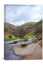 The River Dove by Thorpe Cloud, Canvas Print
