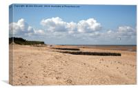 Old Hunstanton beach, Norfolk, Canvas Print