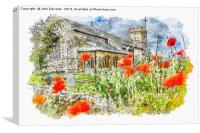 St Mary the Virgin, South Wootton, Canvas Print