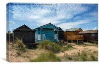 Five Huts at Old Hunstanton, Canvas Print