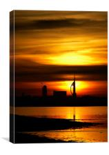 Spinnaker Tower Portsmouth Sunset, Canvas Print