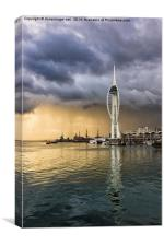 Spinnaker Tower Storm - 2, Canvas Print