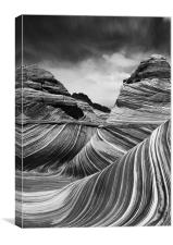 The Wave - Black & White 4, Canvas Print