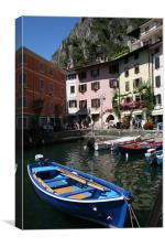Harbour at Limone, Canvas Print