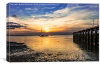 Leaving Whitstable harbour, Canvas Print
