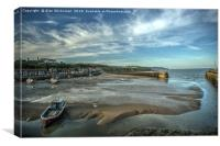 Folkestone harbour at low tide, Canvas Print