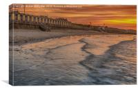 Beach front at Minnis bay, Canvas Print