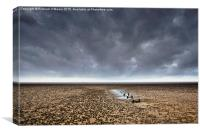 Storm gathering over Morecambe Bay , Canvas Print