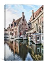 Reflections of Brugge, Canvas Print