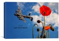 We will Remember, Canvas Print