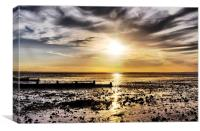 Whitstable Bay Sunset, Canvas Print
