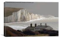 The Coastguard Cottages at Cuckmere Haven, E Suss, Canvas Print