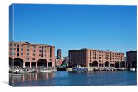 Albert Dock and Angkican Cathedral  Liverpool UK, Canvas Print