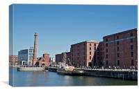 View of Liverpool's historic waterfront, Canvas Print
