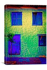 A digitally constructed painting a Turkish village, Canvas Print