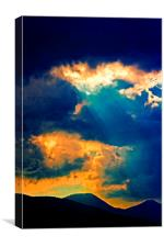 sunrays on a stormy day , Canvas Print