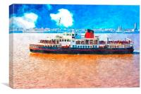 Mersey Ferry in Liverpool UK, Canvas Print