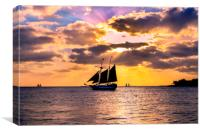 Sunset in Key West, Florida, Canvas Print