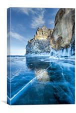 Blue Ice of the Lake Baikal, Canvas Print