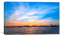 Sunset in a white night, Canvas Print