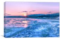 Baikal sunrise, Canvas Print