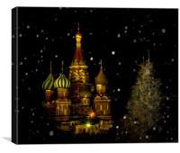 Moscow Night, Canvas Print