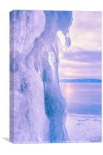 Ice cliff of Lake Baikal, Canvas Print