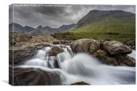 Small fall on Skye, Canvas Print
