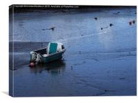 Aground on the blue sands..., Canvas Print