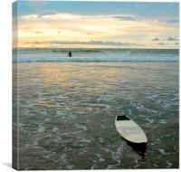 Playa Tamarindo, Costa Rica,  Surf and Sunset, Canvas Print
