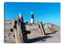 Spurn Point coast, Canvas Print