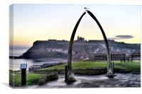 Whitby Whalebone Frost, Canvas Print