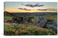 Sunset over moorlands, Canvas Print