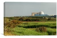 Sizewell nuclear power station, Canvas Print