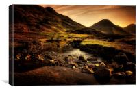 Dawn over Lake District, Canvas Print