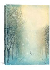 Winter Stroll, Canvas Print