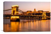 Budapest at Night, Canvas Print