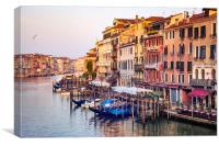 Life on Grand Canal, Canvas Print