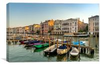 Gondolas in the morning, Canvas Print
