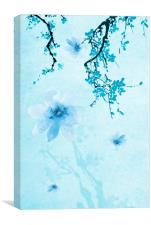Blue Floral Abstract, Canvas Print